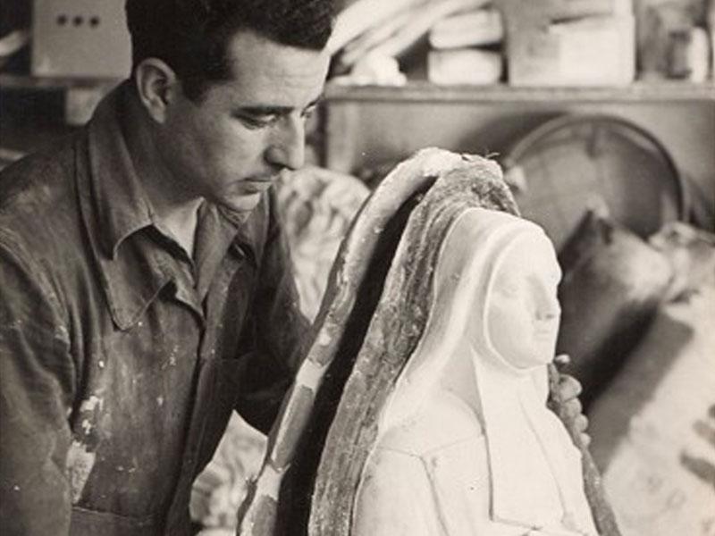 E. Carrara casting plaster Religious Statue